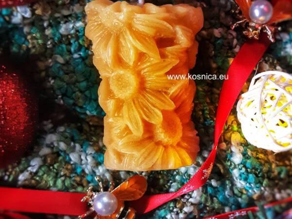 Svijeća od pčelinjeg voska Bee magic suncokret-cvijeće