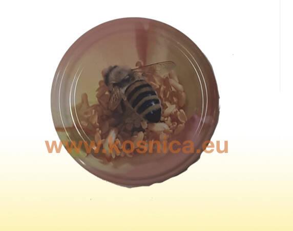 Metalni poklopac za tegle (staklenke) meda s motivom pčele
