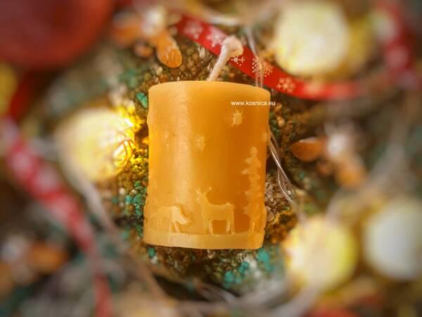 Svijeća od pčelinjeg voska bee magiv božić