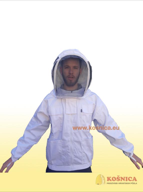 Pčelarska jakna s šeširom je dio osnovne pčelarske opreme.