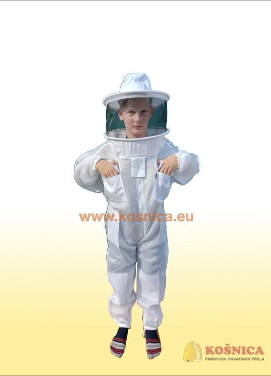 Dječje pčelarsko troslojno ventilirajuće odijelo je savršena zaštita za pčelare.